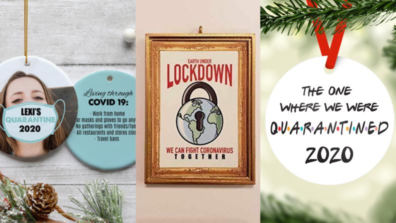 quarantine life Christmas ornaments