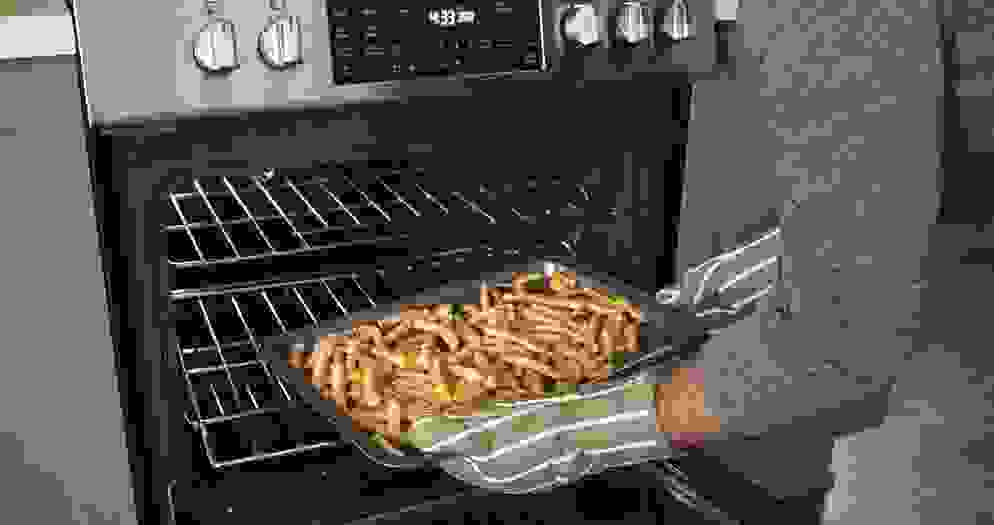 The Frigidaire Gallery FGGH3047VF gas range with Air Fry mode