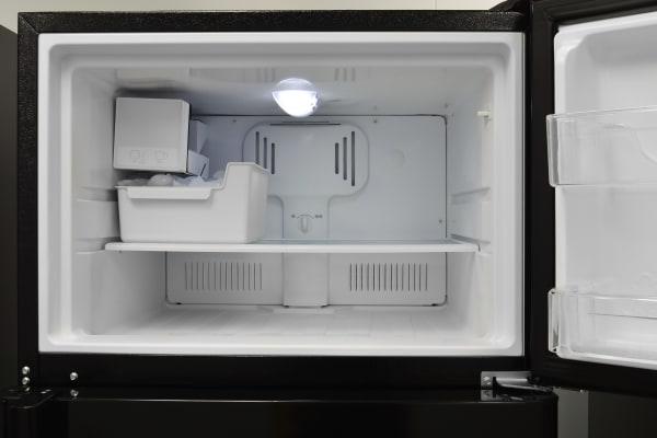freezer interior with ice maker