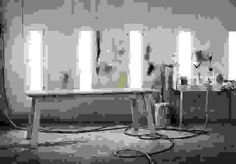 Ikea-Industriell-table-gray