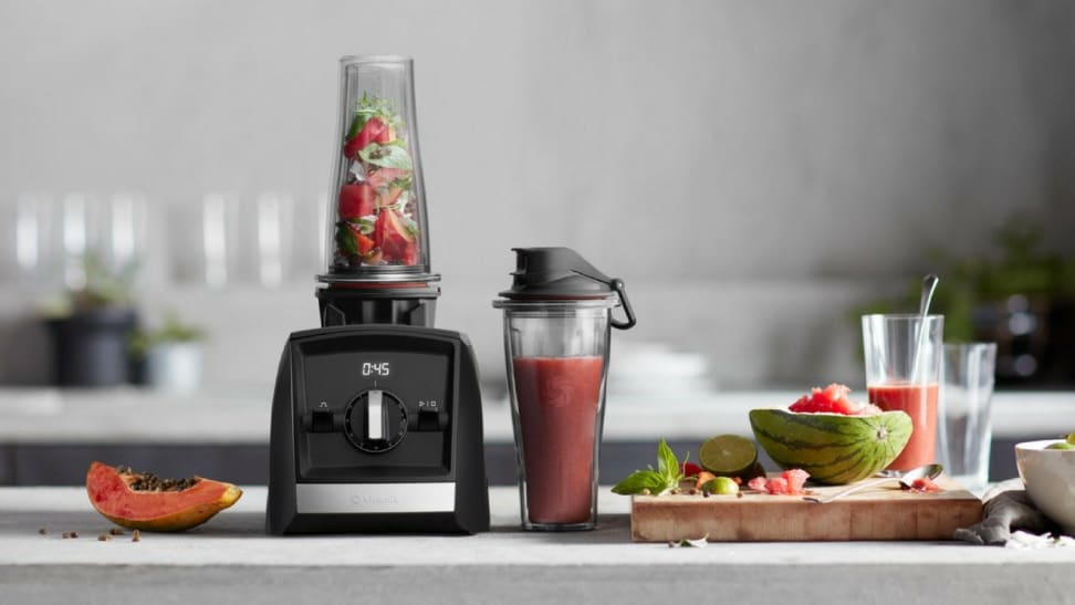 The recently-recalled Vitamix A2300 with 20-ounce blending cup.