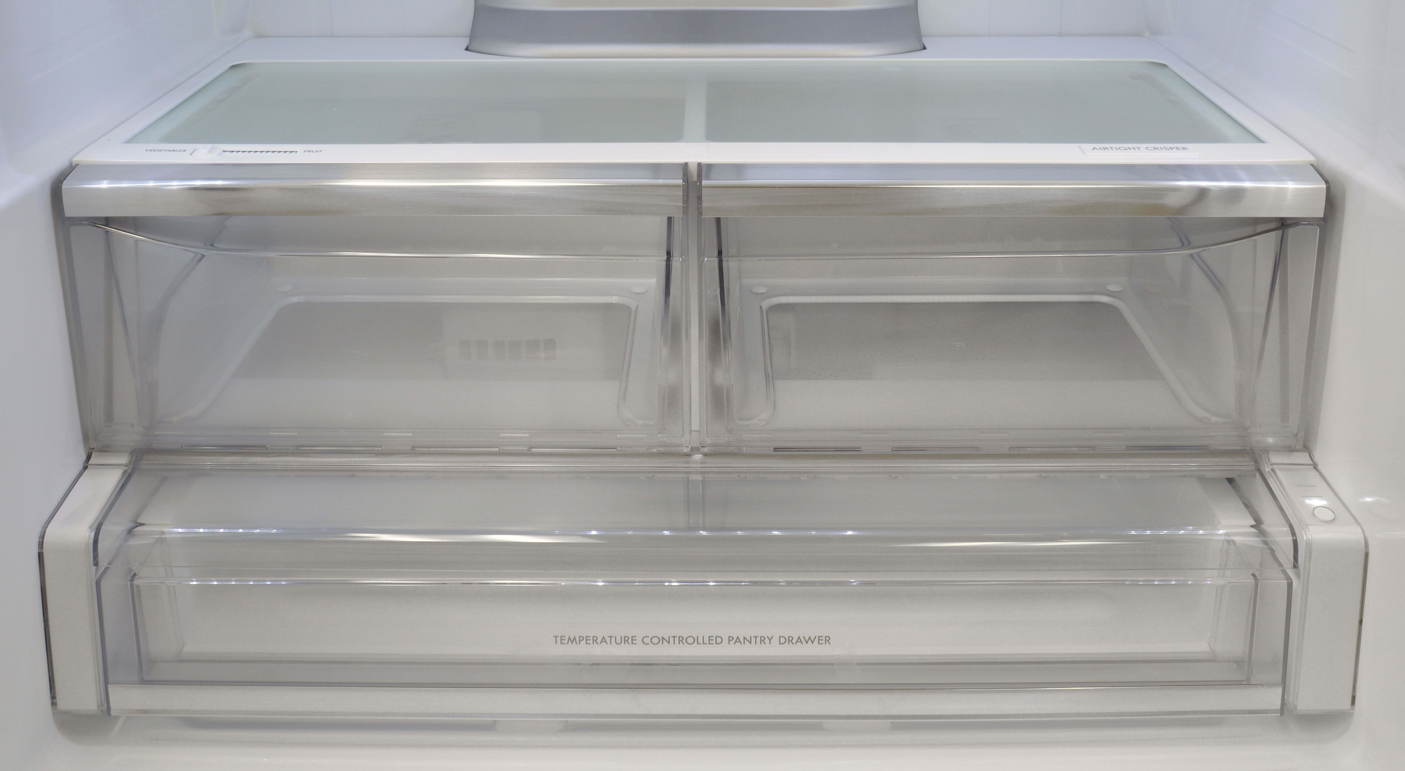 The Kenmore Pro 79993 has two crispers, but only the one on the right is Airtight. The drawer underneath also comes with three distinct temperature settings.