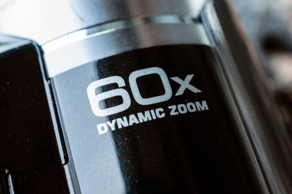 The GZ-R10 has a 40x optical zoom which is extended to 60x digitally.