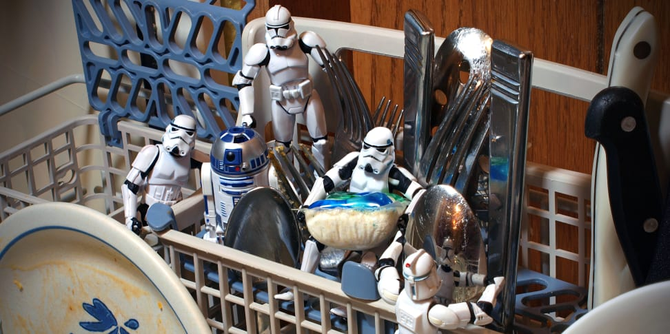 Stormtrooper Action Figures Inside a Dishwasher