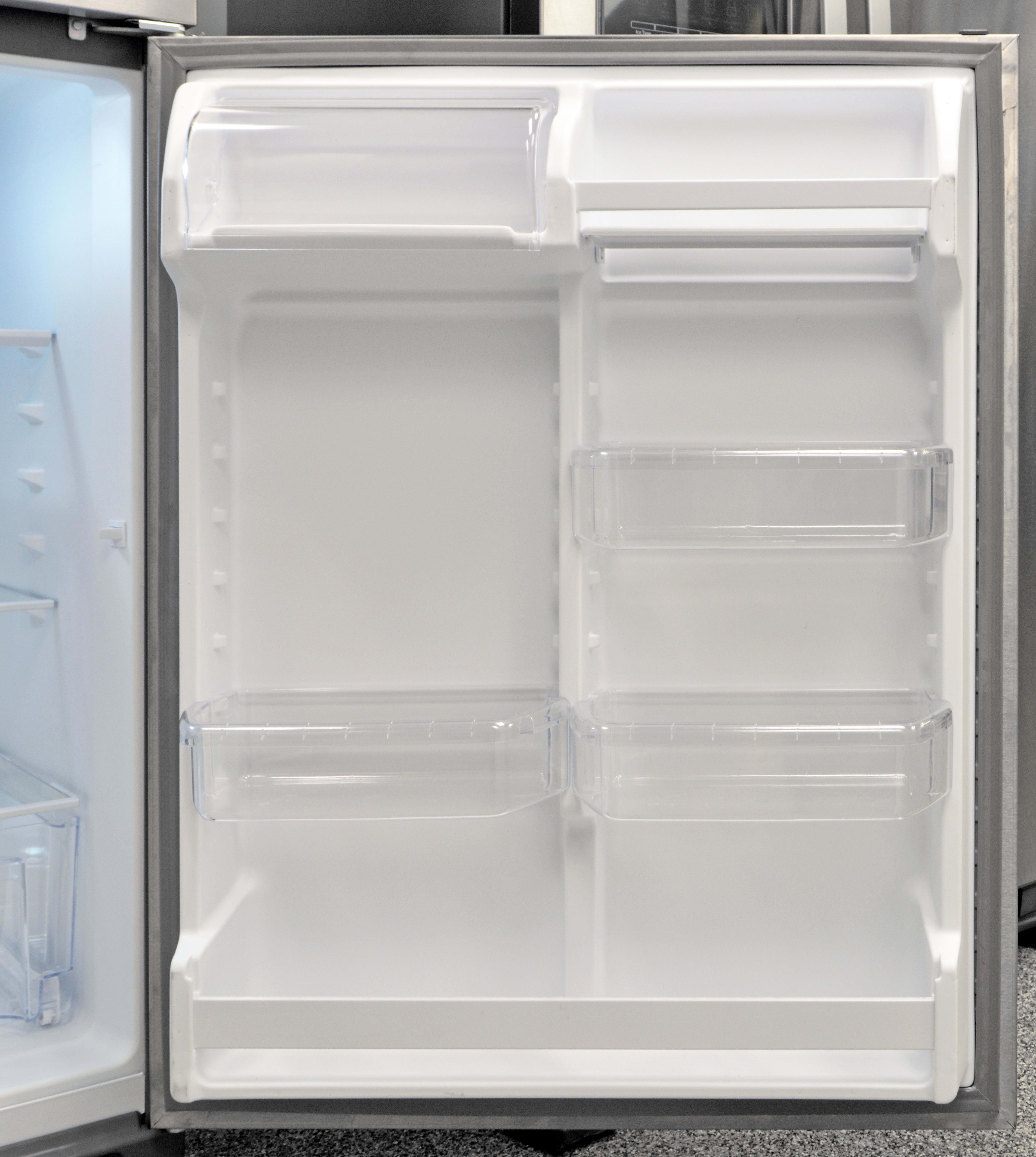 Lots of adjustable storage make the Whirlpool WRT311FZDM's fridge door surprisingly versatile.