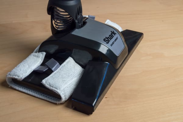 The Dust-Away head is a dust mop that comes with a washable microfiber cloth.