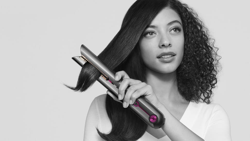 A photo of the Dyson Corrale hair straightener.