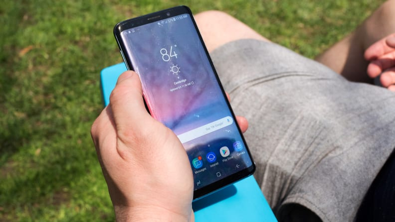 Samsung Galaxy S9 Being Used