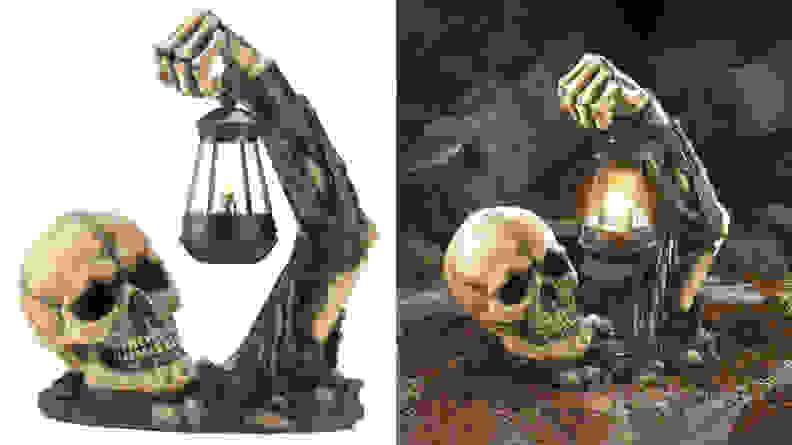 Dragon Crest Sinister Skull with Lantern