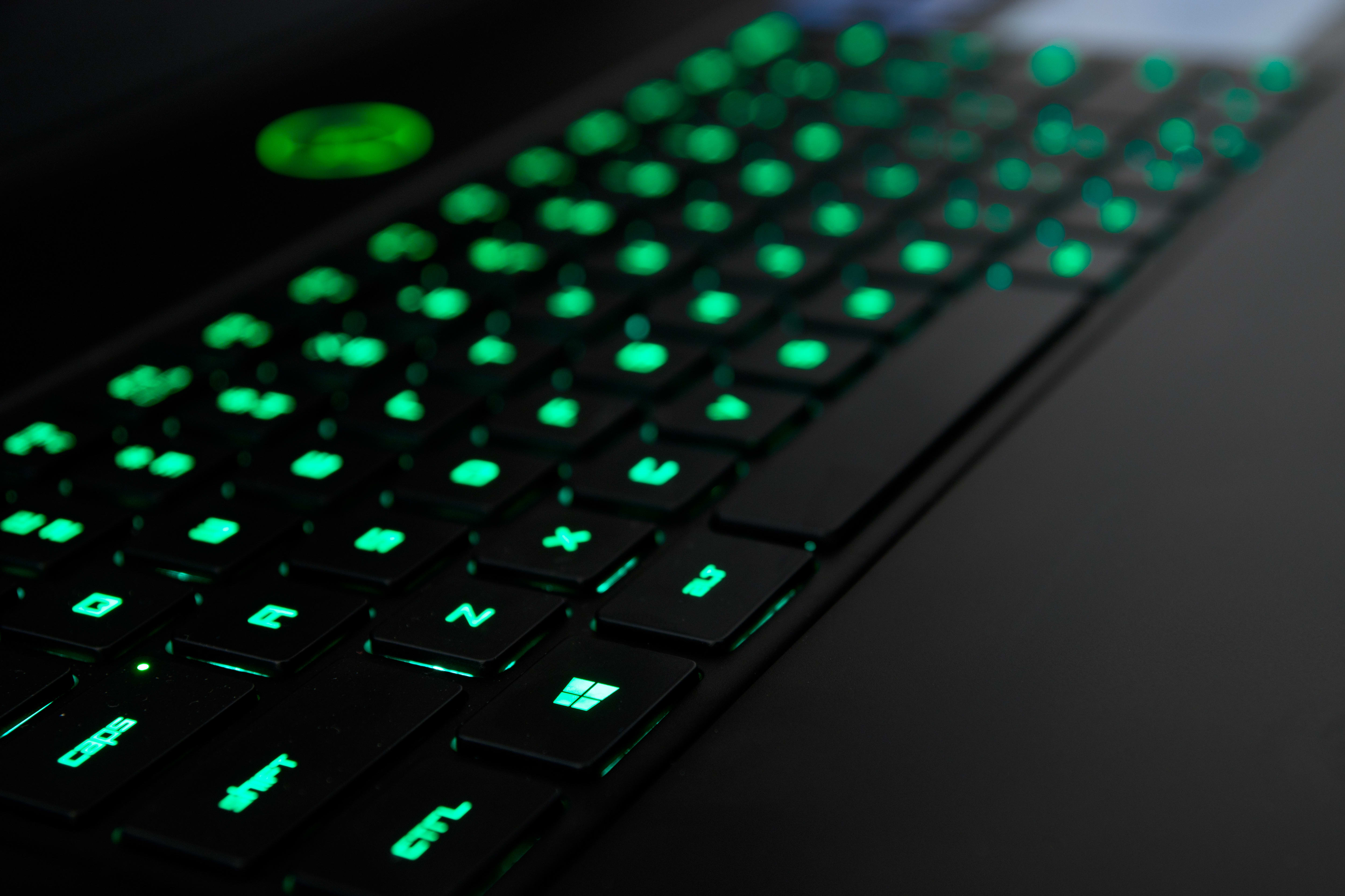 A photo of the Razer Blade Pro's backlighting.