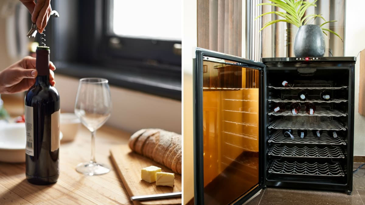 coolers built small wine in cooler countertop