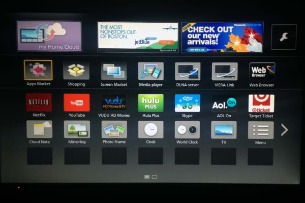 The Panasonic TC-50AS530U comes with some great preinstalled apps: Netflix, Hulu, and YouTube, to name a few.