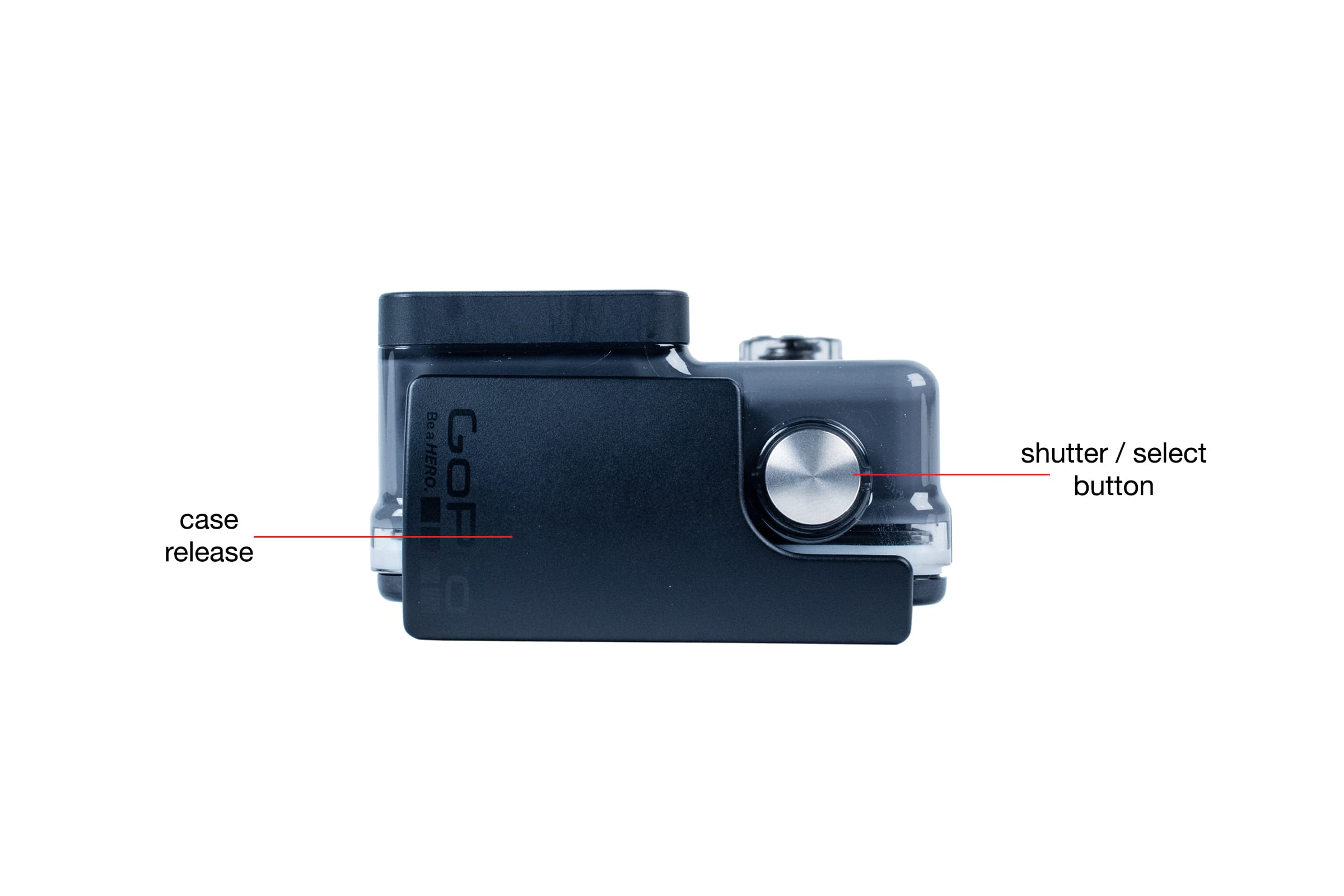 Top view of the GoPro Hero (2014)