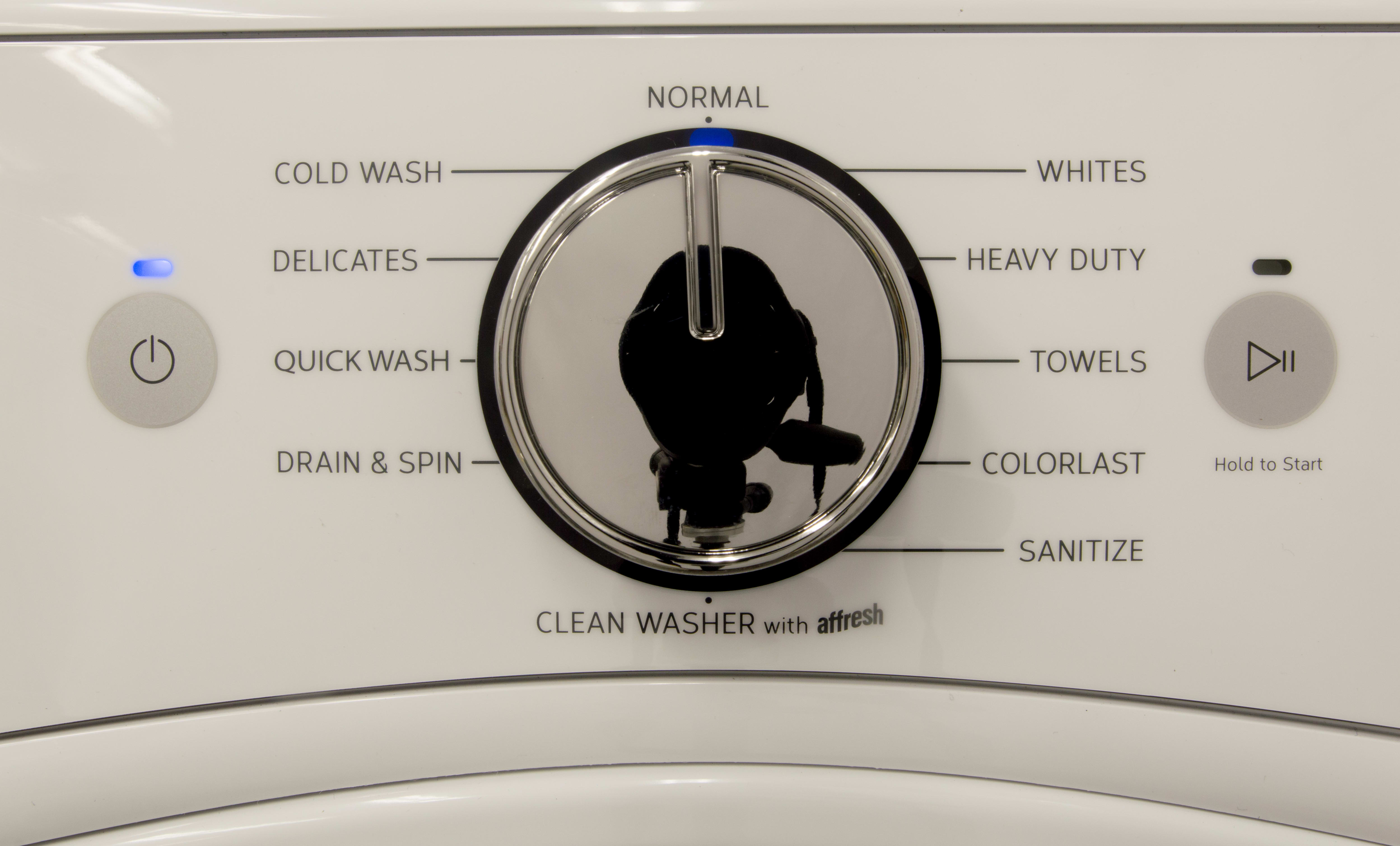 We appreciated the large cycle selection.  Of note: the 123°F Sanitize and ColorLast.
