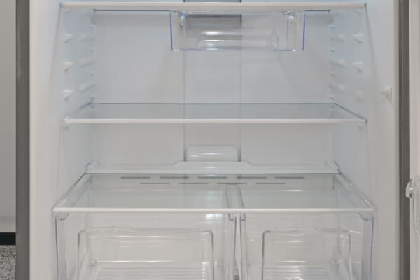 The Whirlpool WRT311FZDM's glass shelves and LED lighting aren't common features in fridges at this price range.