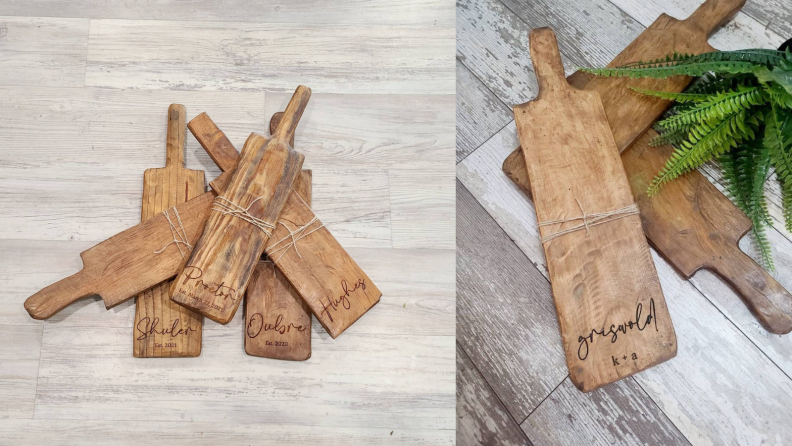 Best engagement gifts: Personalized cheese board