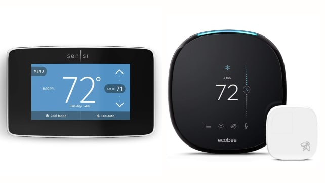 Emerson Sensi and ecobee4 smart thermostats