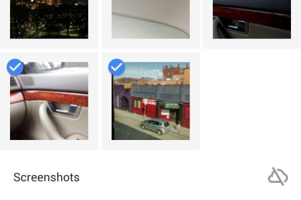 Google Photos App Device folders screen