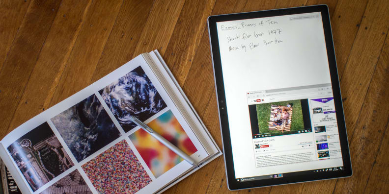 Surface Book with Performance Base Tablet Taking Notes