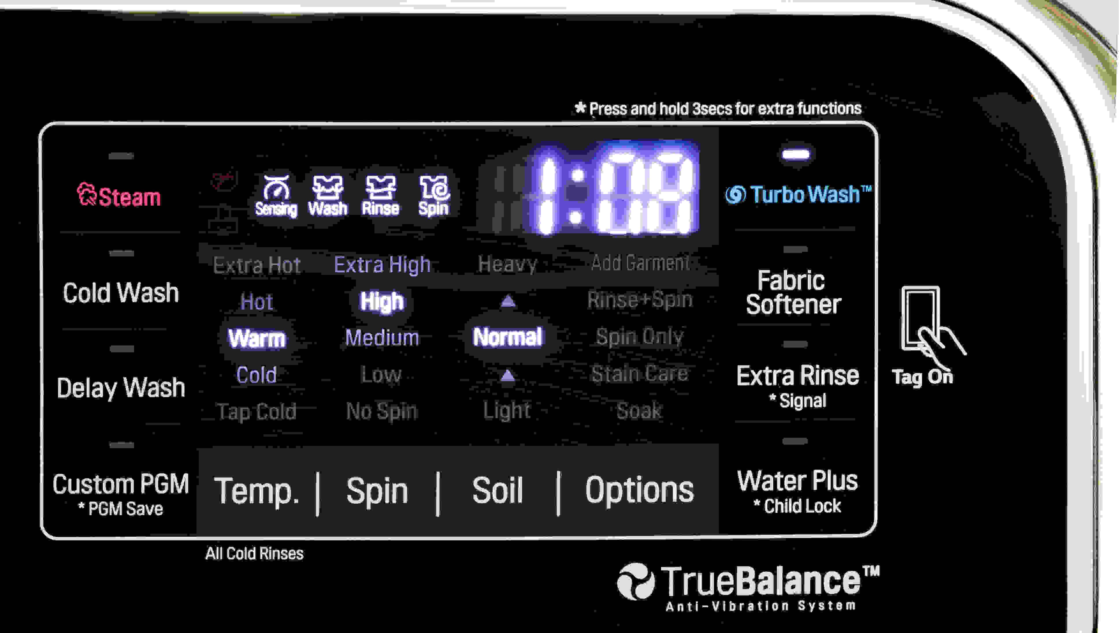 The LG WT7700HVA has plenty of extra features, including TurboWash.