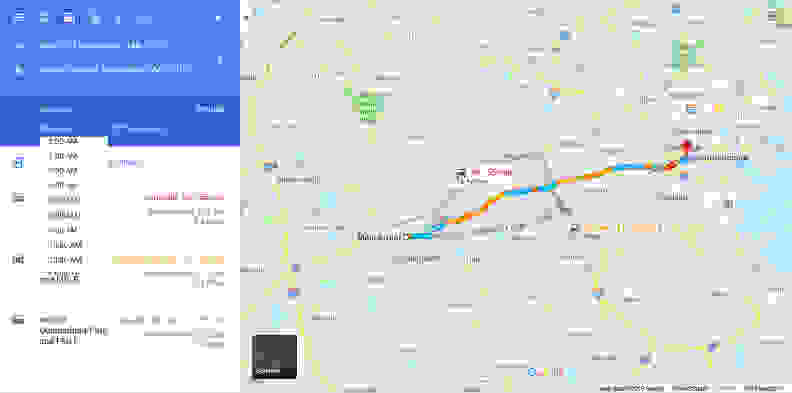 3. Google Maps Commuting