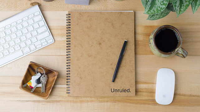 Unruled notebooks