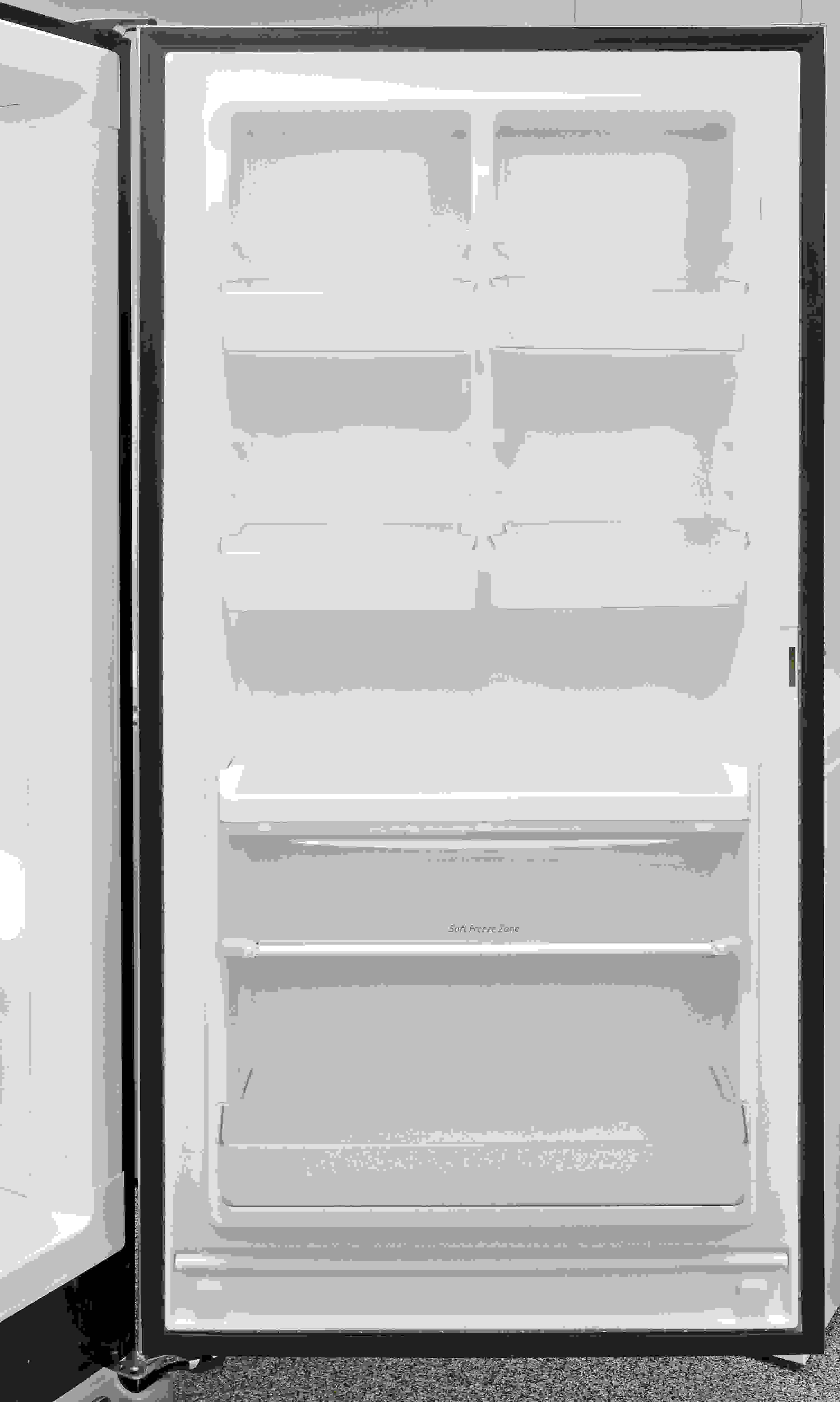 Adjustable door storage makes the Kenmore Elite 27003 unexpectedly flexible.