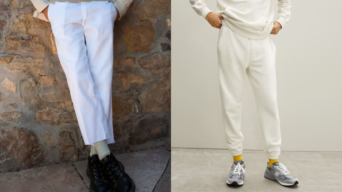 9 white pants for men that will help you brave the trend