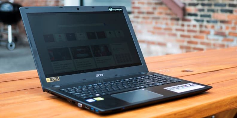 Acer Aspire E15 On A Table