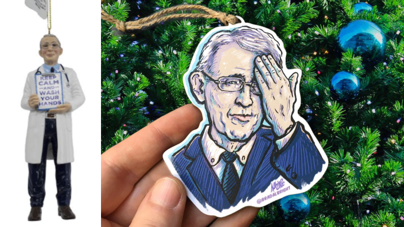 Dr. Anthony Fauci Christmas ornaments