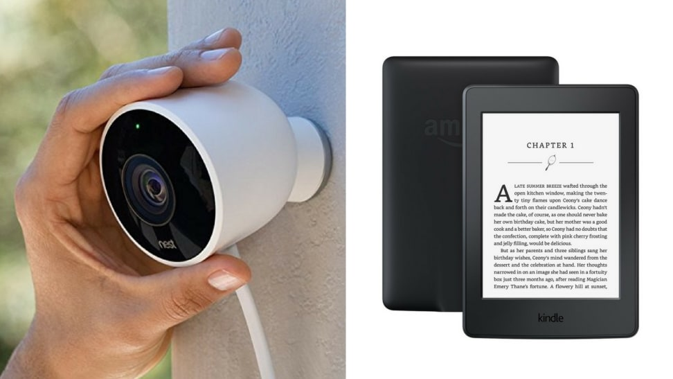 Nest Security Camera and a Kindle Paperwhite