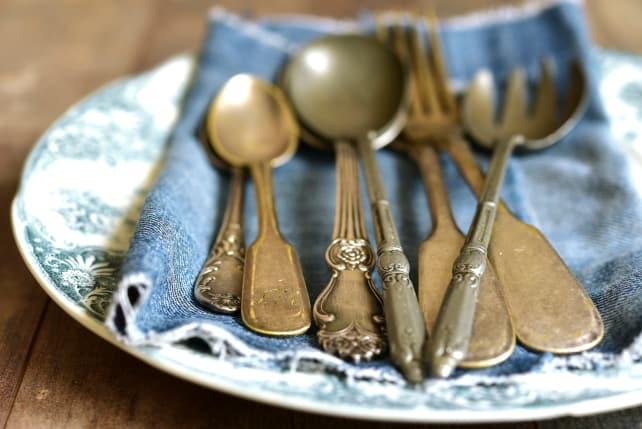 Silver flatware