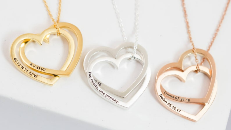 Personalized Mother's Day gifts: Custom heart necklace