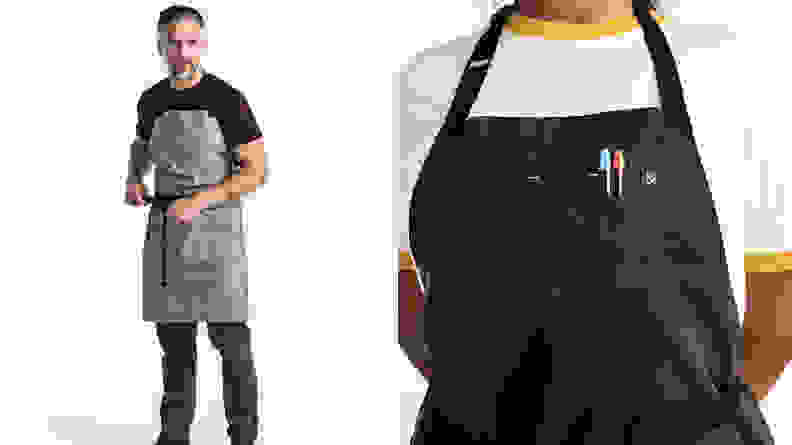 Person wearing an apron