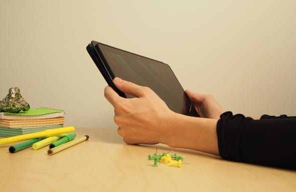 The Flip 11a is totally functional as a tablet, but not as ideal as using a thinner device like an iPad.