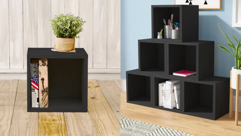 wayfair bookcase cubes