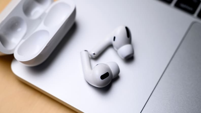 Apple AirPods Pro on MacBook