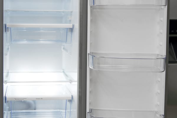 No matter where you put the Kenmore 51783's shelves, you'll always wind up with some awkwardly short storage sections.