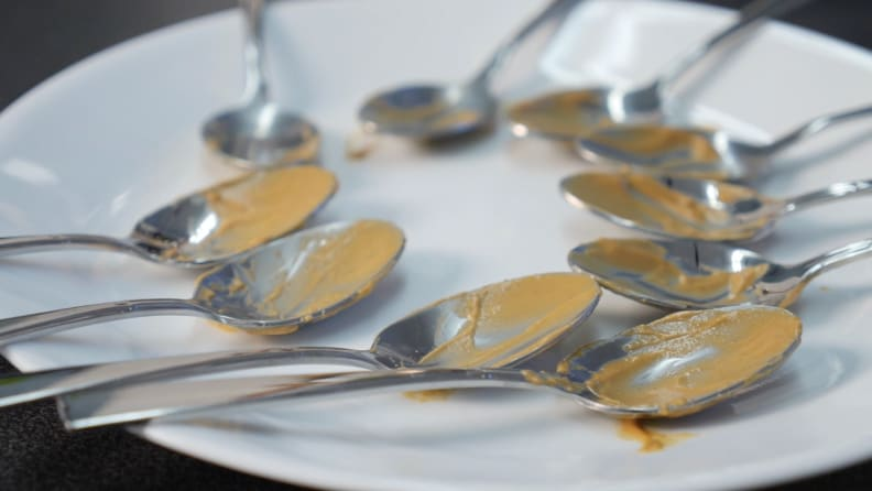 Dirty Spoons on Plate