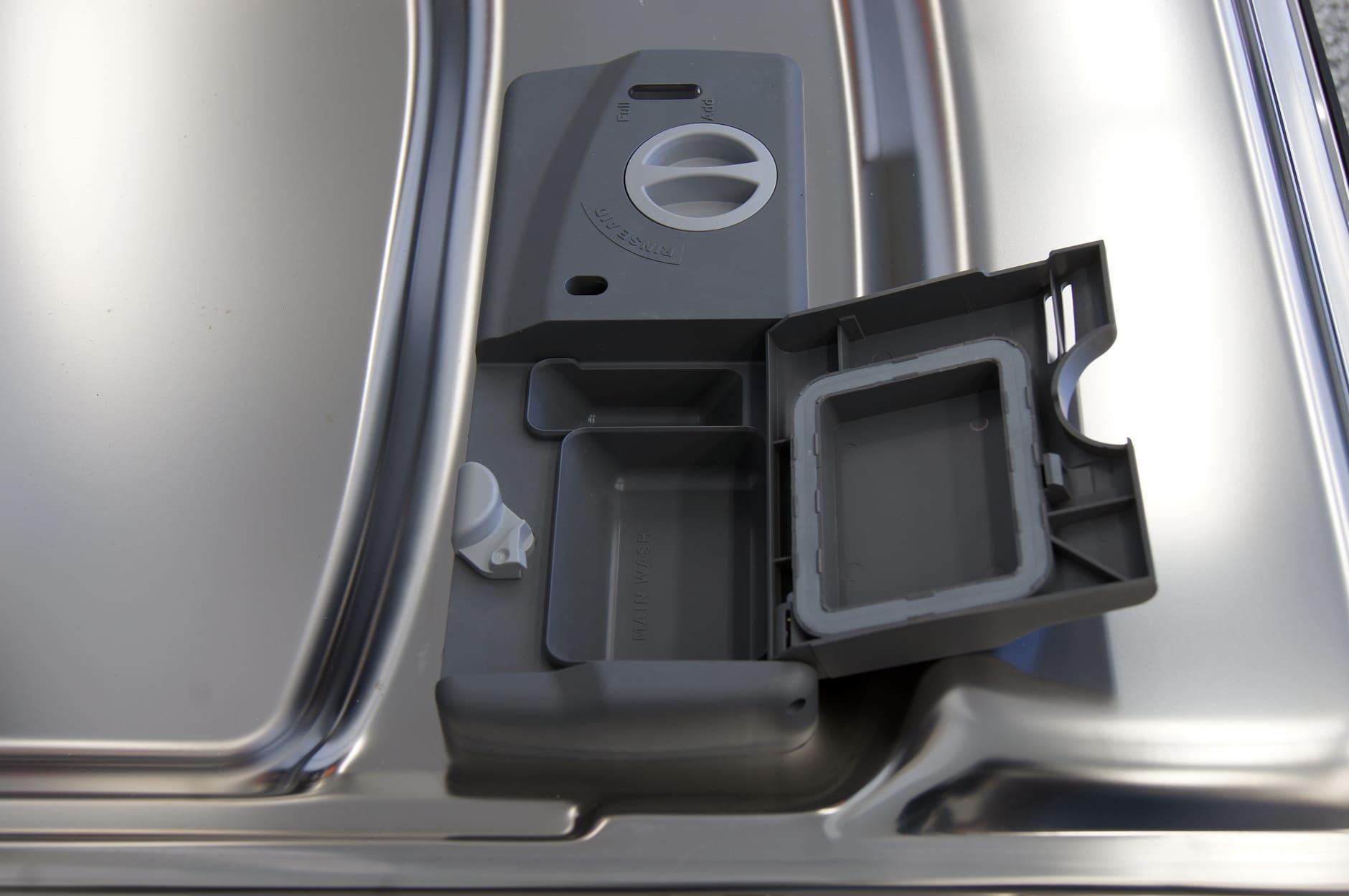 Kenmore Elite 14683 detergent and rinse aid dispenser