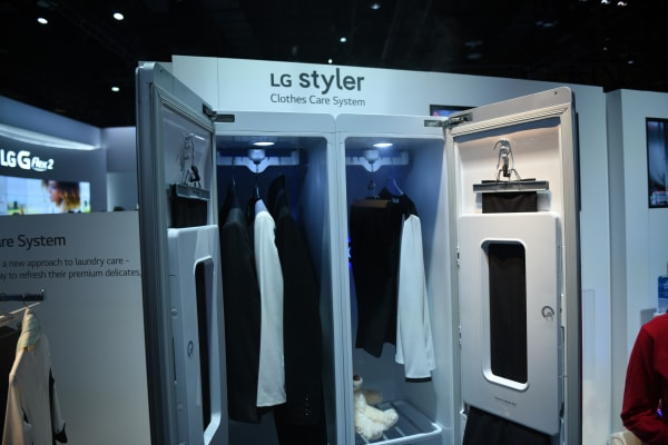 The Styler takes up about as much room as a regular closet.