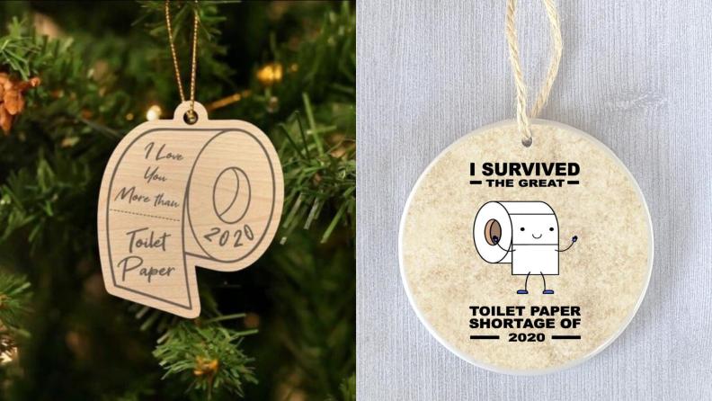 Toilet paper shortage Christmas ornaments