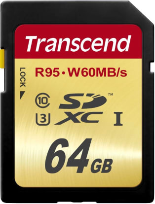 Product Image - Transcend High Speed 64GB (95/60 MB/s)