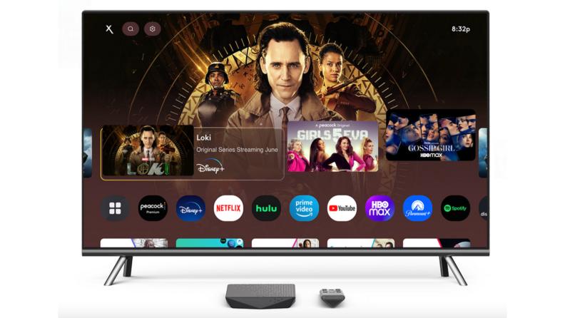 Television with Loki on the screen and a black Xfinity Flex box underneath