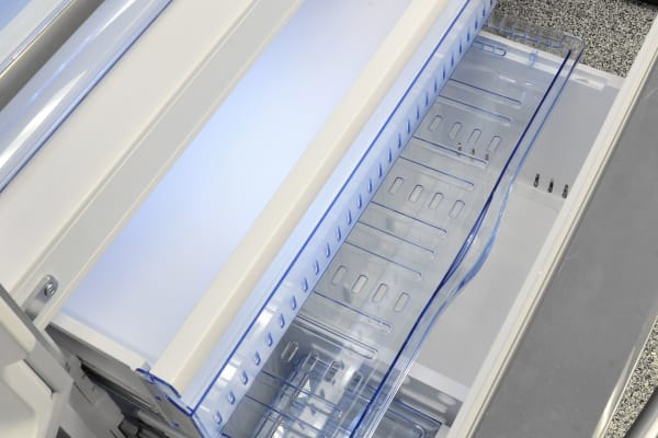 The Hisense RF20N6ASE's pullout freezer isn't all that huge, but it manages to fit three separate drawers inside.