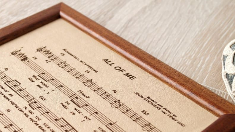 Leather Music Sheet