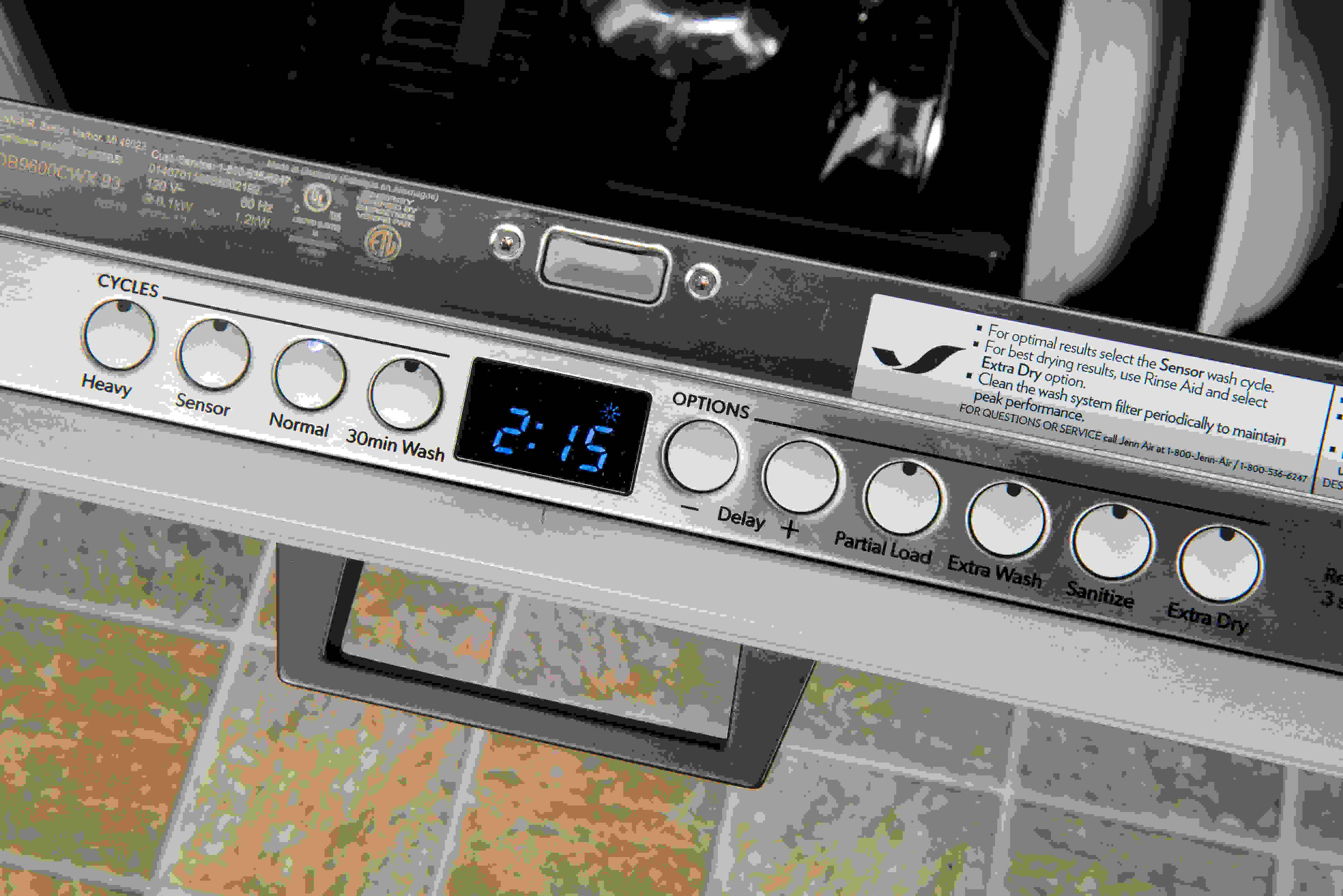Jenn-Air JDB9600CWX digital timer display