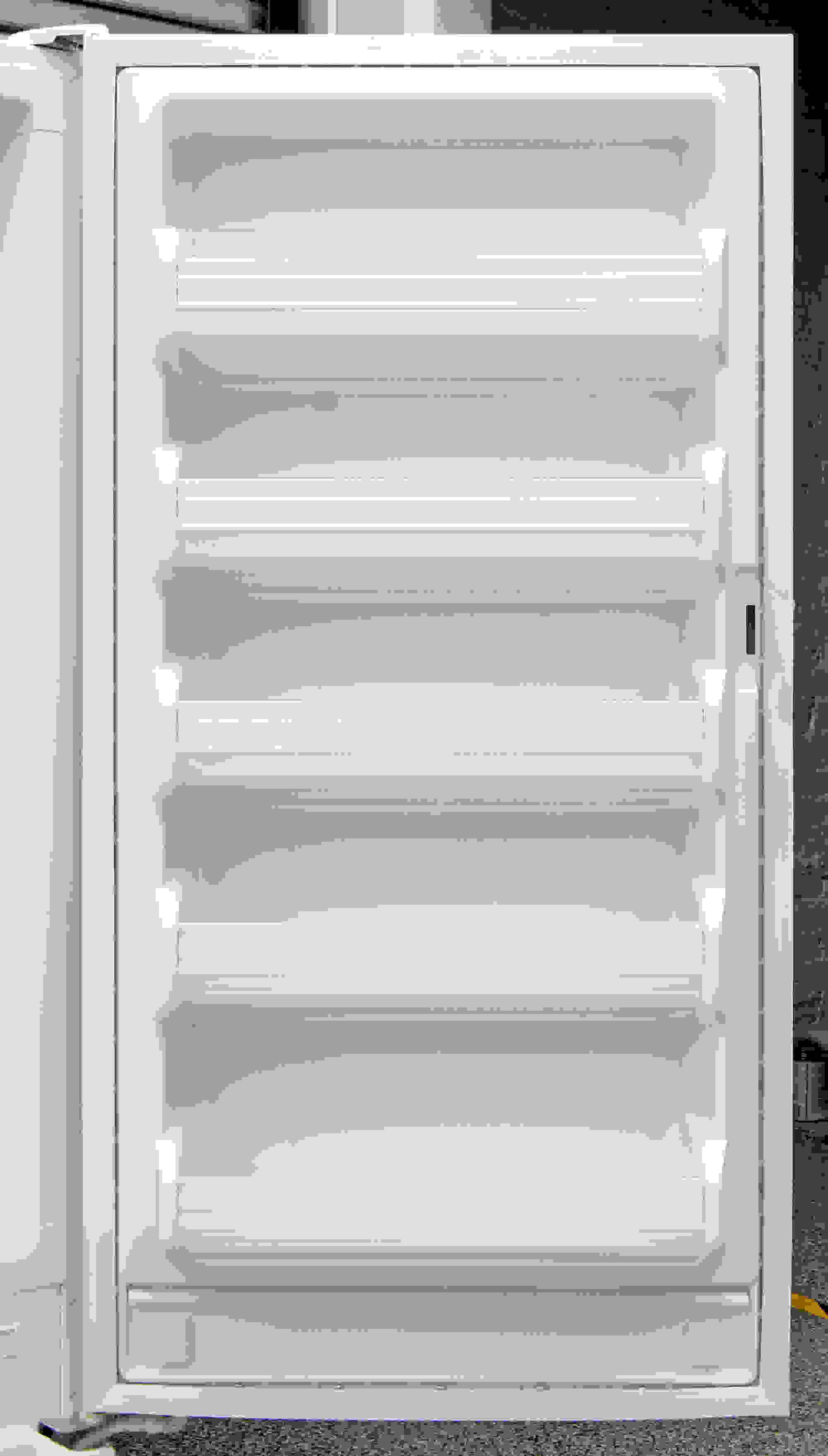 The Kenmore 28432 gives you five door shelves for supplemental storage, none of which are movable.