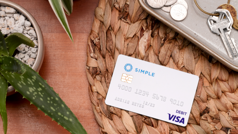 Simple bank debit card