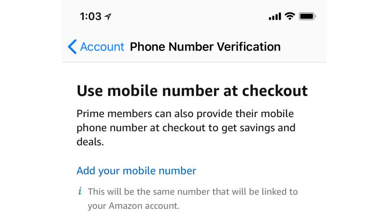 Amazon Prime Whole Foods Phone Number Verification